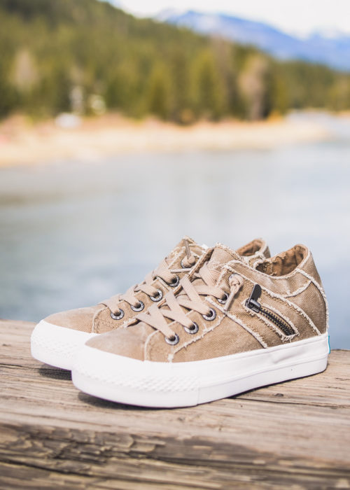 Blowfish Melondrop Hipster Taupe Shoes at Nomads Hemp Wear. Vegan shoes