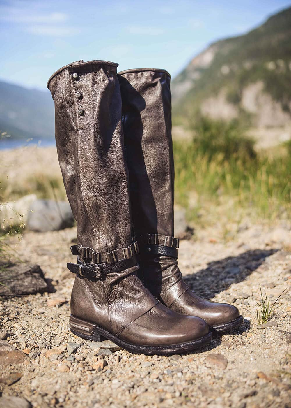 AS98 Italian Leather Andalusian Boots : Nomads Hemp Wear