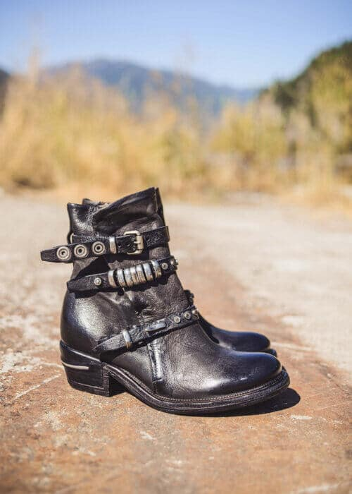 AS98 Black Italian Leather Mayhem Boots : Nomads Hemp Wear
