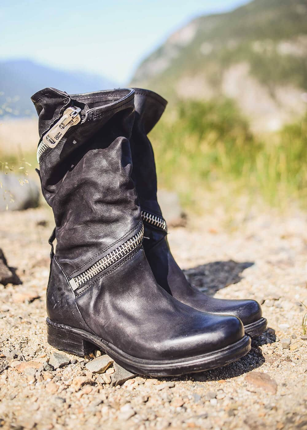 AS98 Italian Leather Cyclone Boots : Nomads Hemp Wear