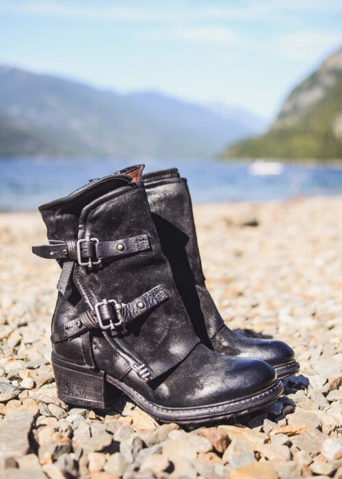 AS98 Italian Leather Outlaw Boots : Nomads Hemp Wear