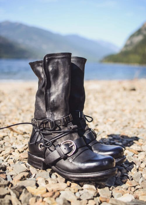 AS98 Italian Leather Biker Boots : Nomads Hemp Wear