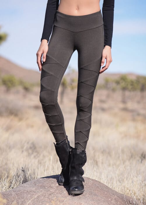 Bamboo and Organic Cotton Albacore Leggings in Grey by Nomads Hemp Wear