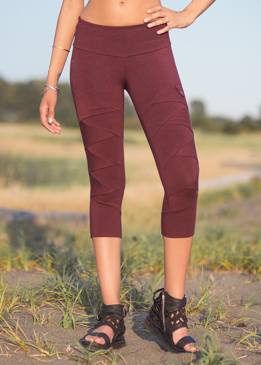 948ed3021dec99 Albacore 3/4 Leggings in Organic Cotton & Bamboo - Nomads Hemp Wear