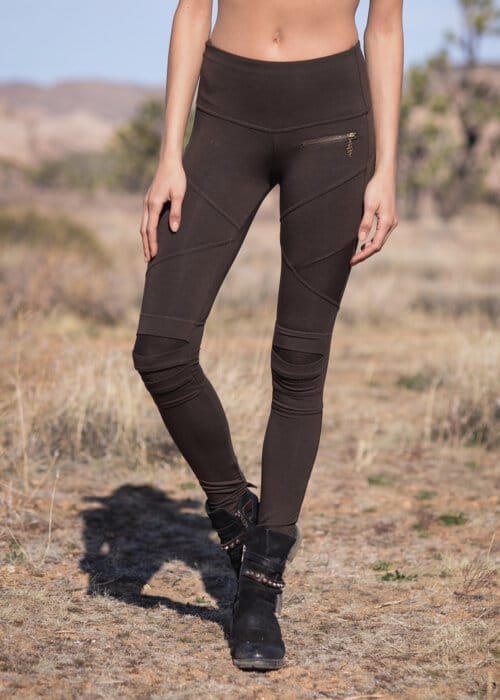 Bamboo and Organic Cotton Apocalypse Leggings in Brown by Nomads Hemp Wear