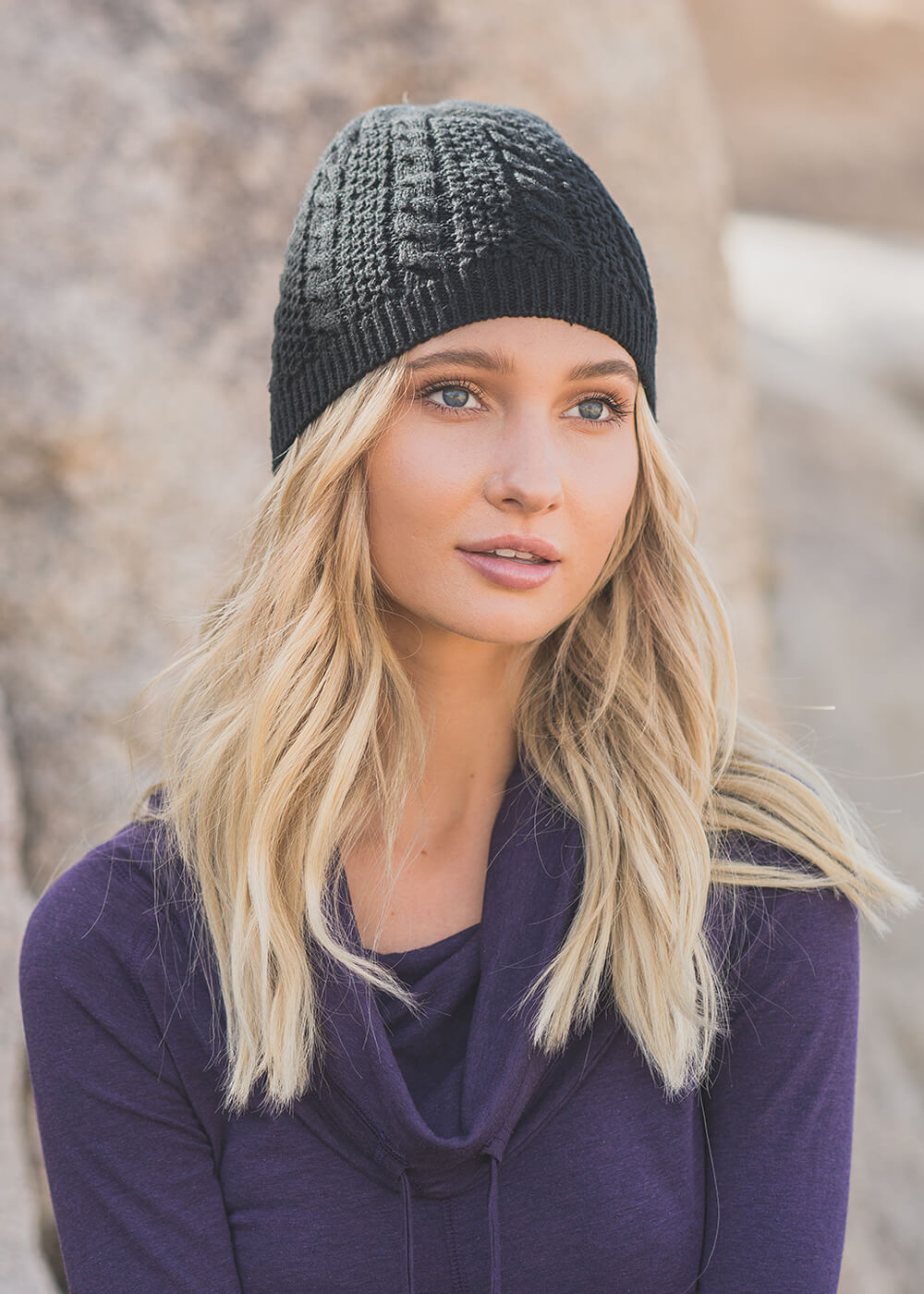 Aspen Beanie in Organic Cotton & Hemp ( Toque, hat) - Nomads Hemp Wear