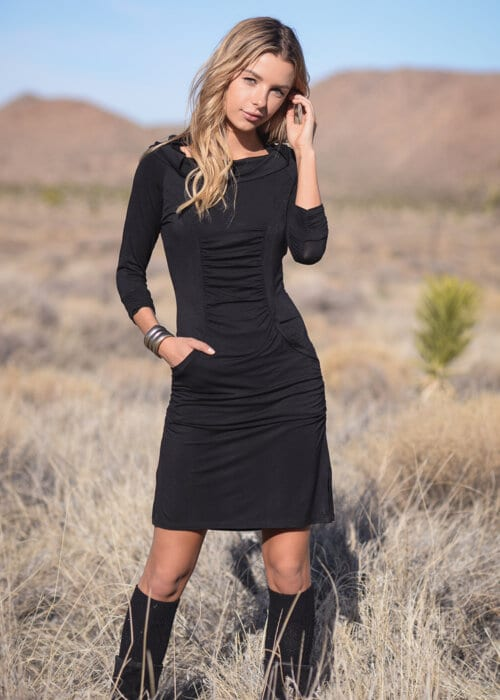 Hemp Darling Dress in Black by Nomads Hemp Wear