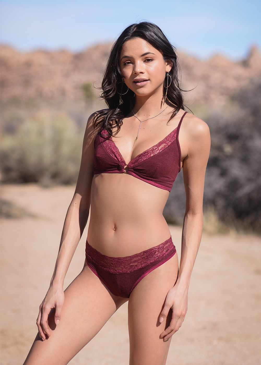 Bamboo and Organic Cotton Delilah Bra in Red by Nomads Hemp Wear