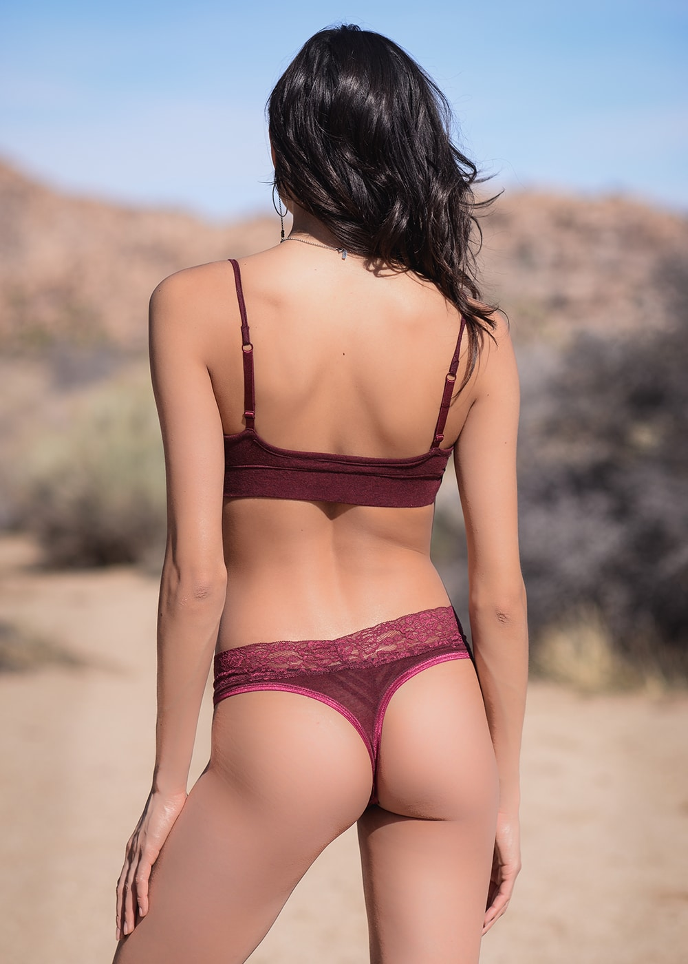 Bamboo and Organic Cotton Delilah Underwear in Red by Nomads Hemp Wear