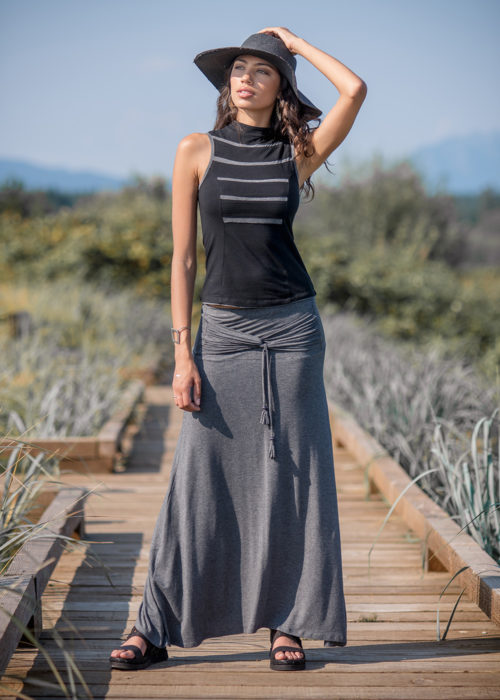 Santorini Skirt in Organic Cotton & Bamboo - Nomads Hemp Wear
