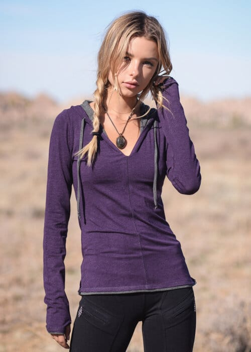 Bamboo and Organic Cotton Diversity Tee in Purple by Nomads Hemp Wear