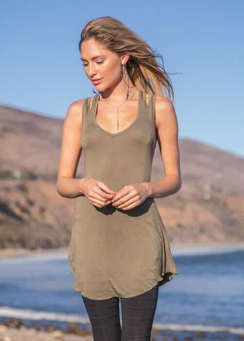 Hemp Lyocell Dreamweaver Tunic in Dusky Green by Nomads Hemp Wear