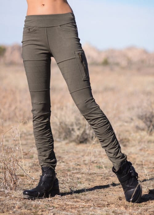 Bamboo and Organic Cotton Drifter Pants in Olive Green by Nomads Hemp Wear