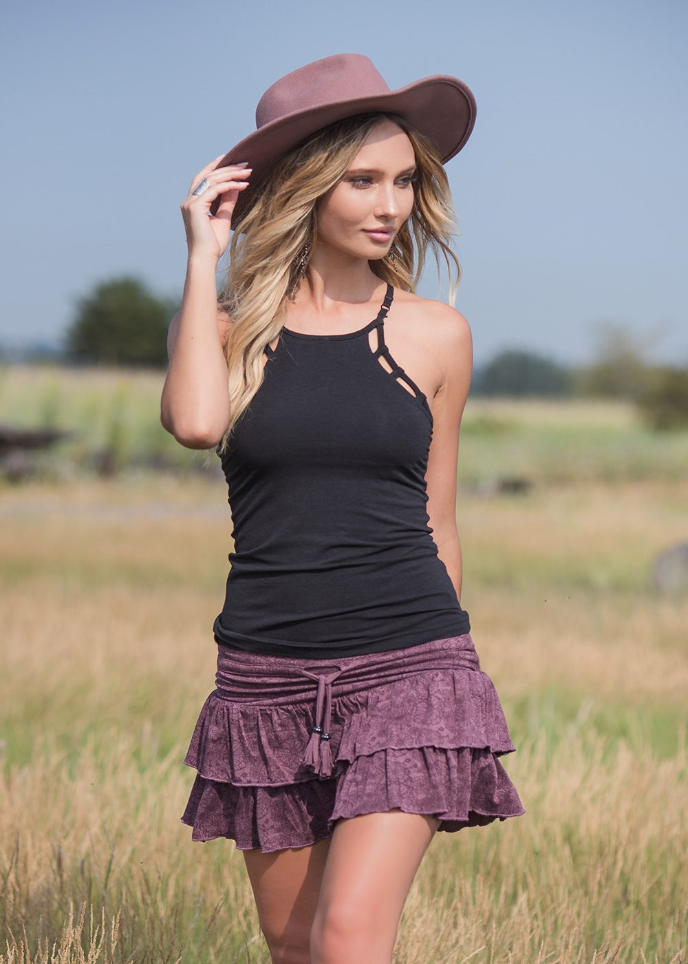 Eclipse Tank in Organic Cotton and Bamboo - Nomads Hemp Wear
