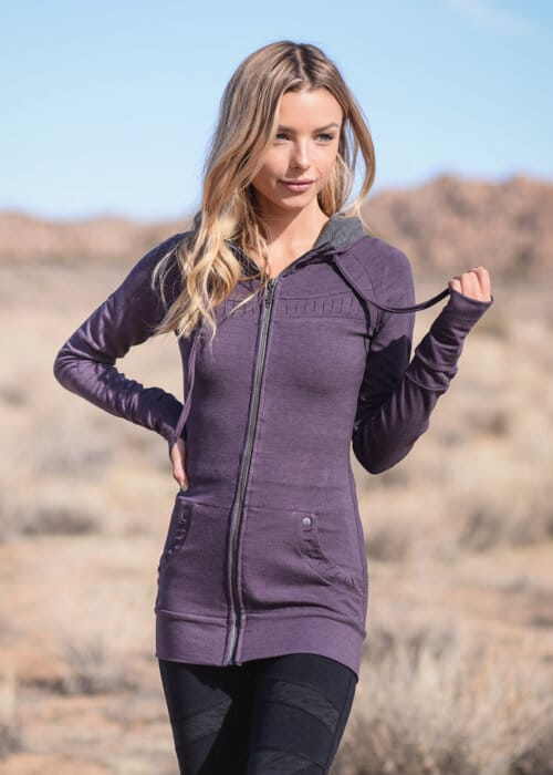 Bamboo and Organic Cotton Elevate Tunic in Purple by Nomads Hemp Wear