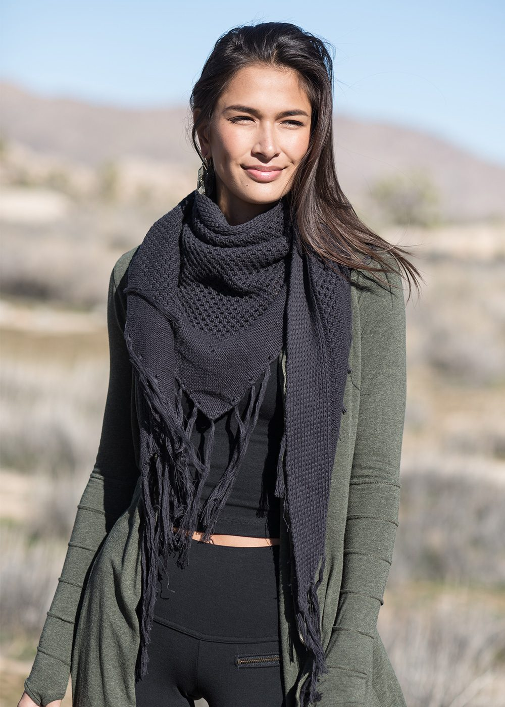 Embrace Scarf in organic cotton and hemp by Nomads Hemp Wear