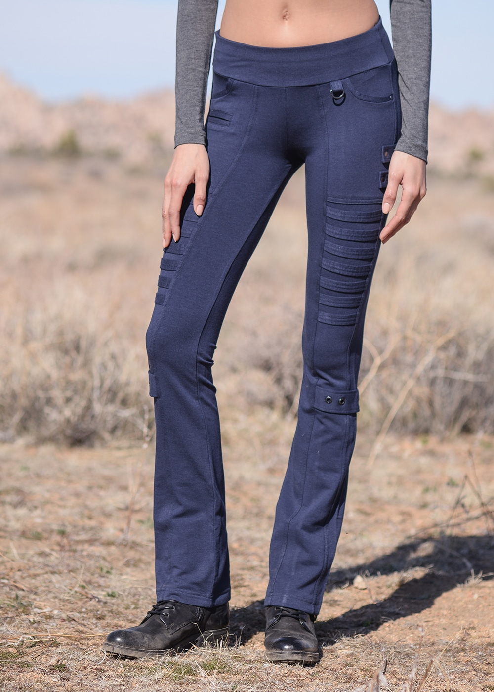 Bamboo and Organic Cotton Evasion Pants in Blue by Nomads Hemp Wear