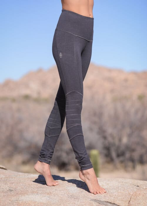 Bamboo and Organic Cotton Hamsa Leggings in Grey by Nomads Hemp Wear