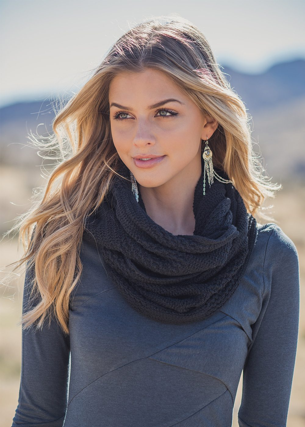 Infinity Scarf in Organic Cotton & Hemp - Nomads Hemp Wear