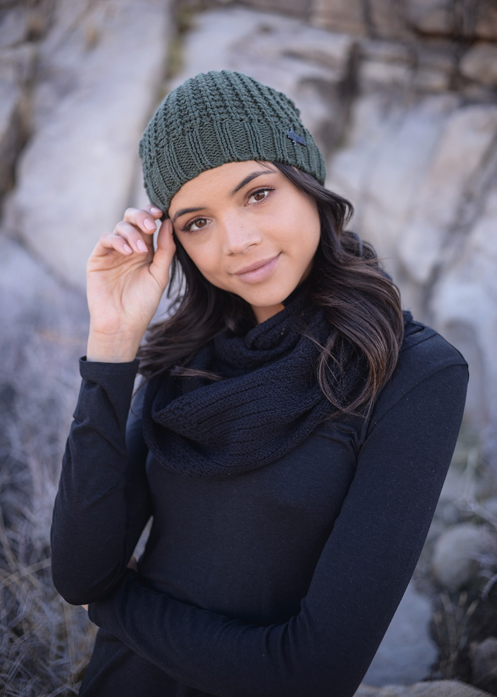 Hemp Knit Jasper Beanie in Green by Nomads Hemp Wear