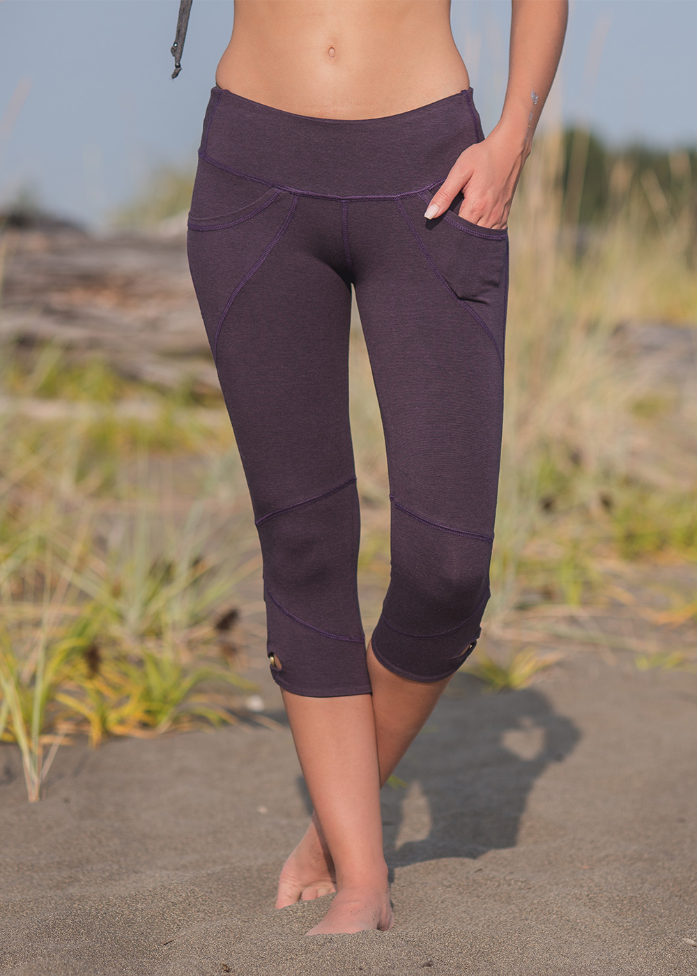 Lotus Yoga Leggings in Organic Cotton & Bamboo - Nomads Hemp Wear