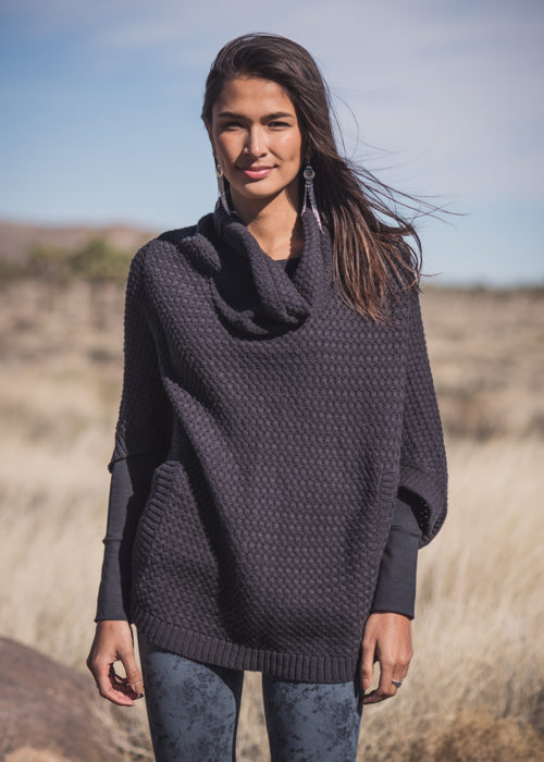 Moonlight Poncho in Hemp & Organic Cotton - Nomads Hemp Wear