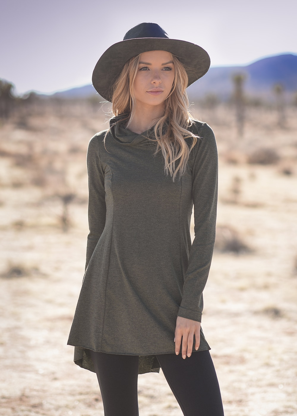 Bamboo and Organic Cotton Mystic Tunic in Grey by Nomads Hemp Wear