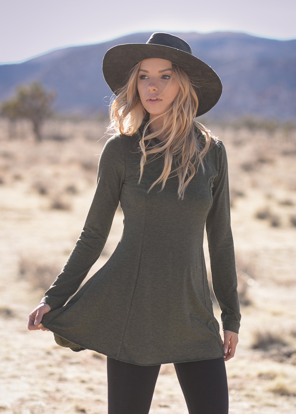 Bamboo and Organic Cotton Mystic Tunic in Grey by Nomads Hemp Wear 2