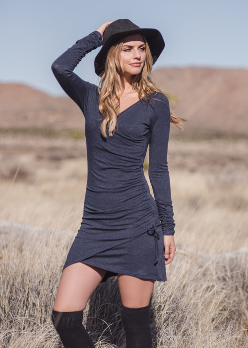 Nostalgia dress in organic cotton and bamboo nomads hemp wear