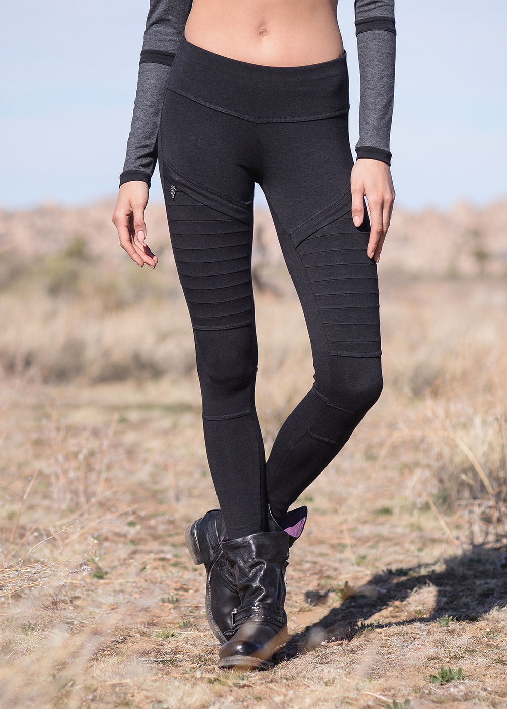 Bamboo and Organic Cotton Recluse Leggings in Black by Nomads Hemp Wear