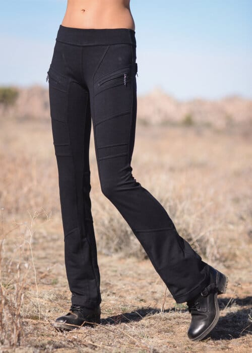 Bamboo and Organic Cotton Seeker Pants in Black by Nomads Hemp Wear