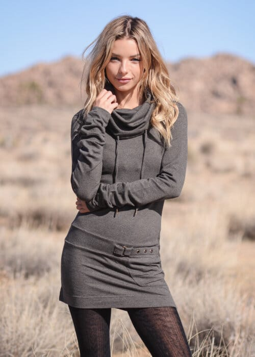 Hemp Terry Shrine Tunic in Grey by Nomads Hemp Wear
