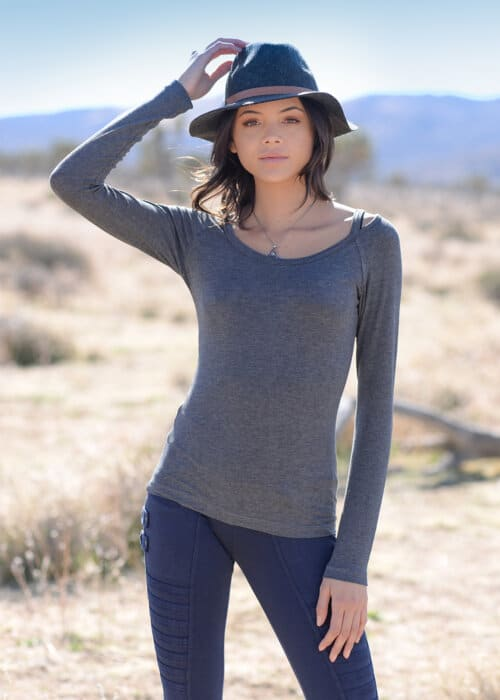 Bamboo and Organic Cotton Simplicity Tee in Grey by Nomads Hemp Wear