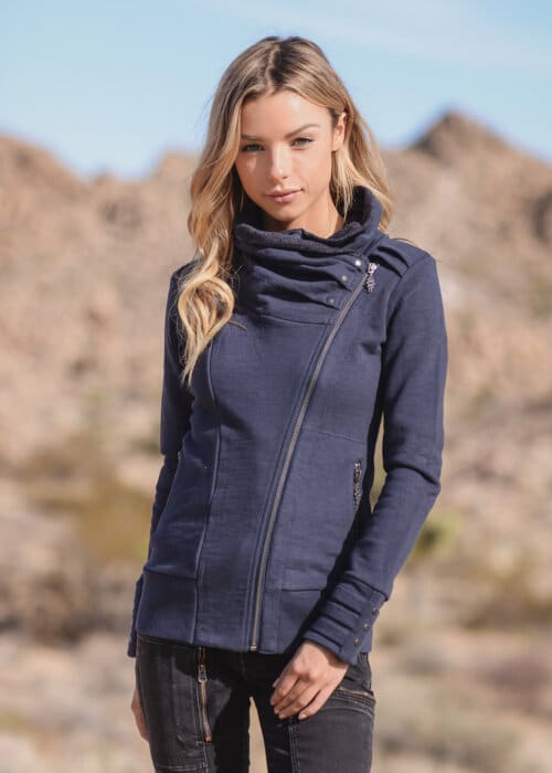 Bamboo and Organic Cotton Skyline Jacket in Blue by Nomads Hemp Wear