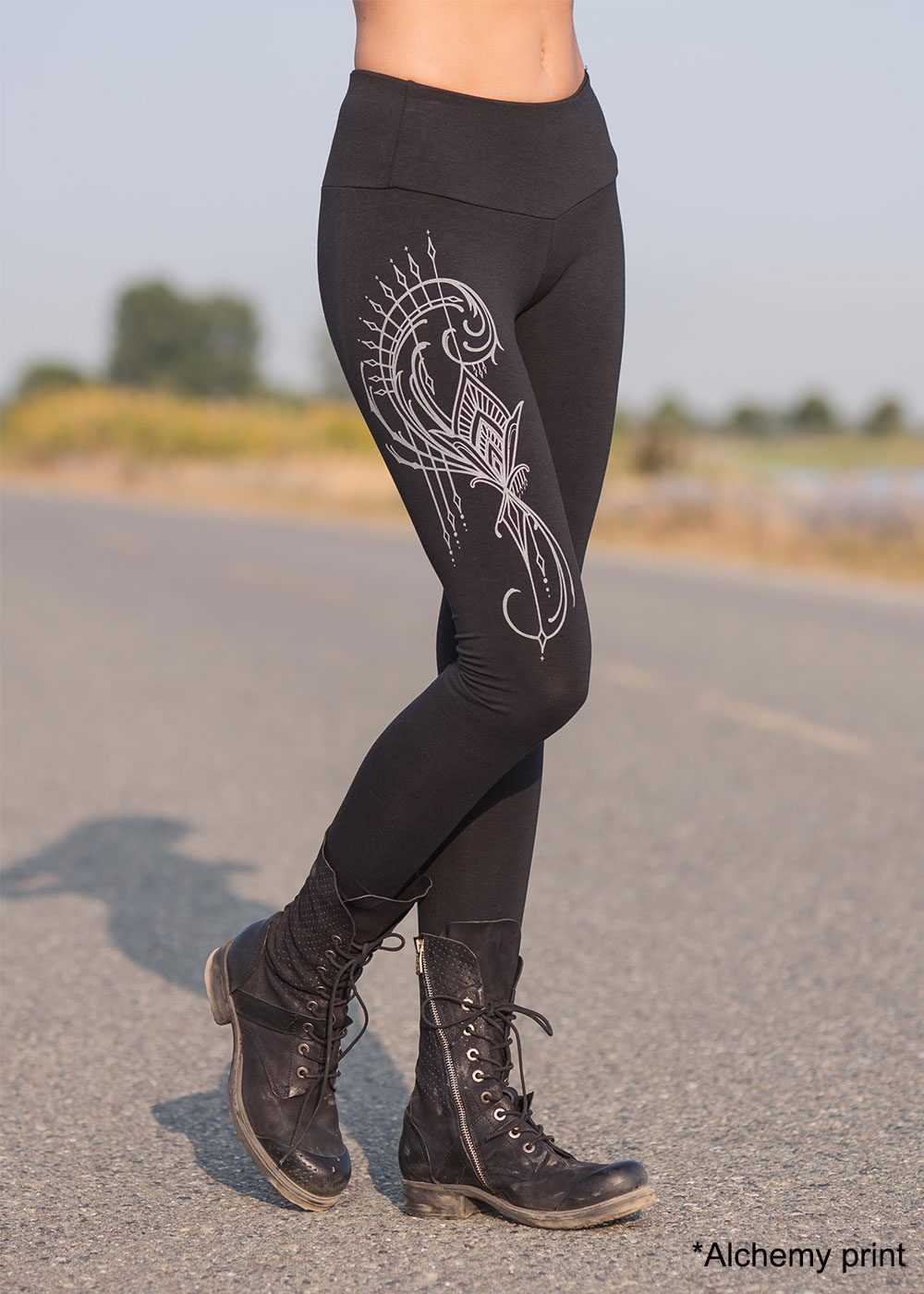 Spectrum Leggings in Organic Cotton and Bamboo, Nomads Hemp Wear