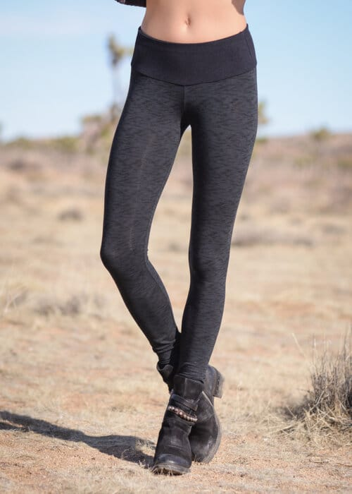 Spectrum Leggings Illusion Print in Bamboo : Nomads Hemp Wear