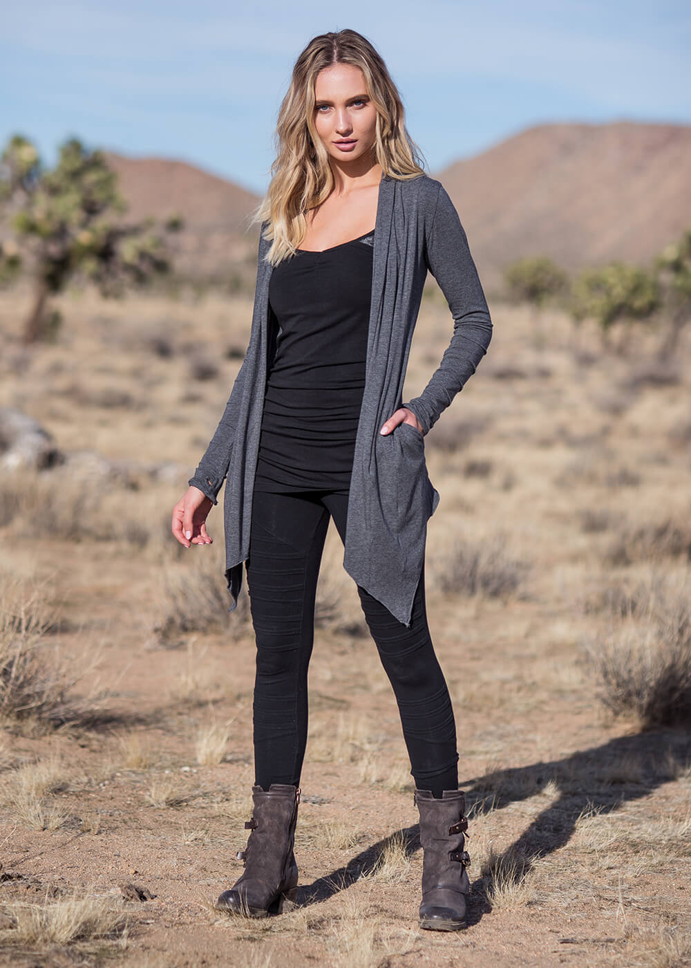 Twilight Cardigan in Organic Cotton & Bamboo - Nomads Hemp Wear