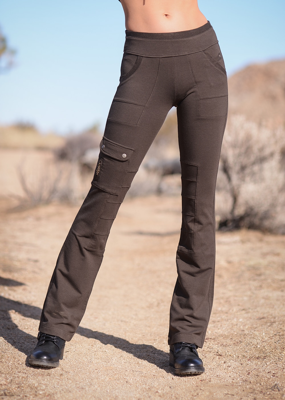 Bamboo and Organic Cotton Wander Pants in Brown by Nomads Hemp Wear