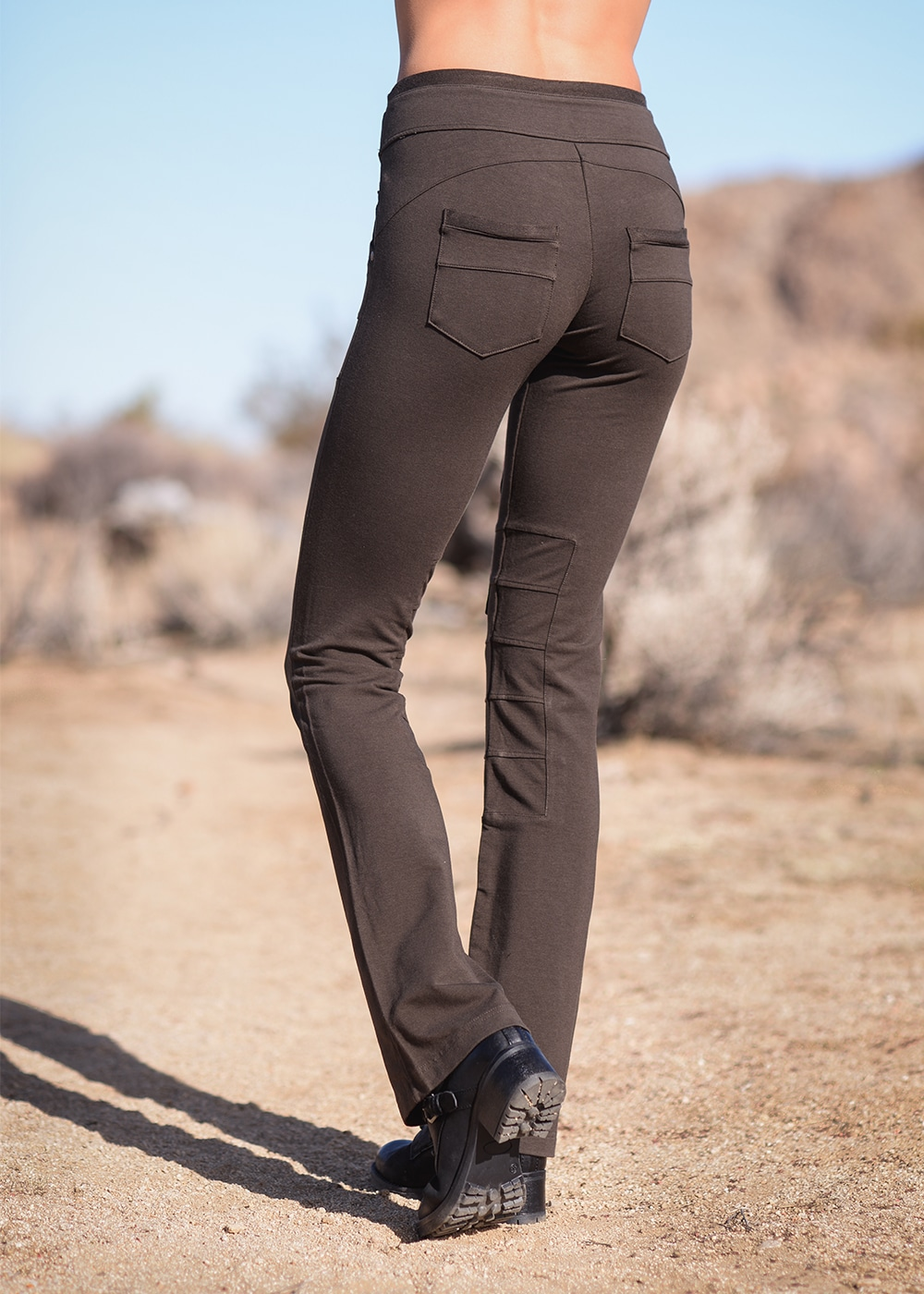Bamboo and Organic Cotton Wander Pants in Brown by Nomads Hemp Wear Back