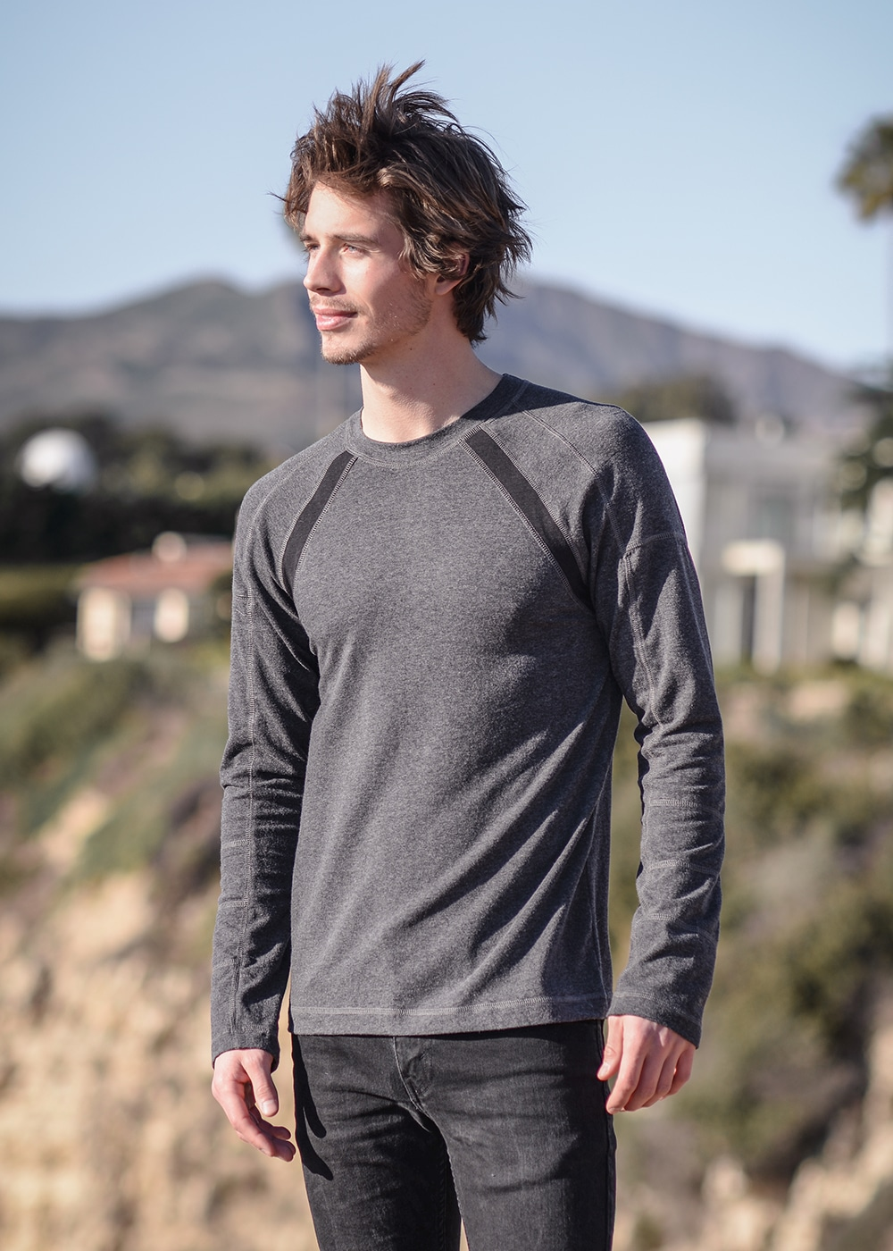 Men's Bamboo and Organic Cotton Warrior Tee in Grey by Nomads Hemp Wear