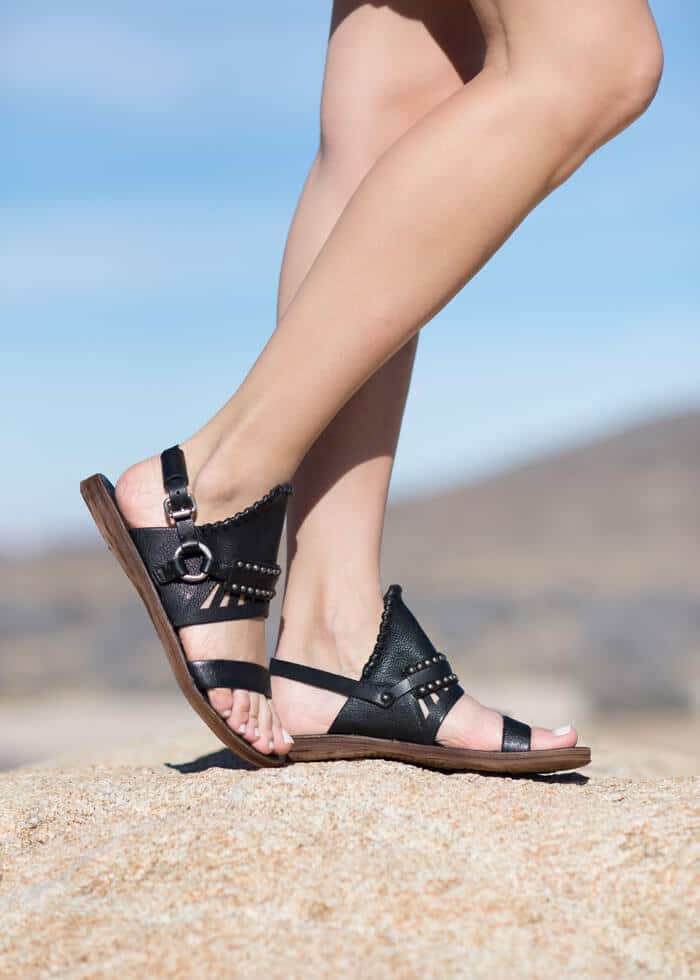Black AS98 Edessa Sandals