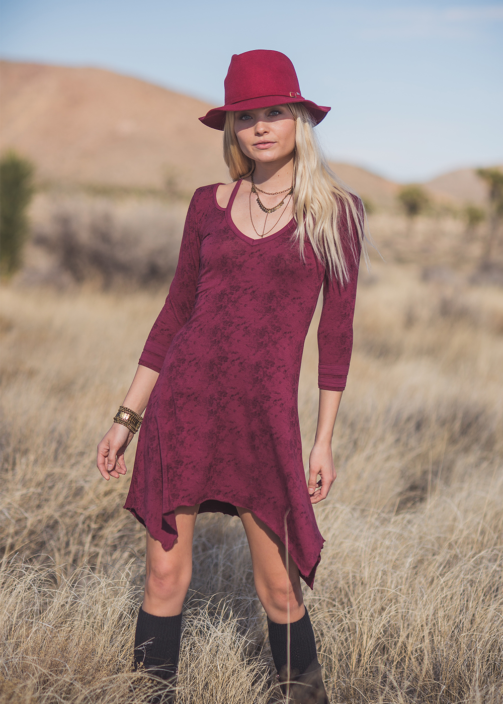 Esperanza Dress in organic cotton and bamboo by Nomads Hemp Wear boho festival fashion