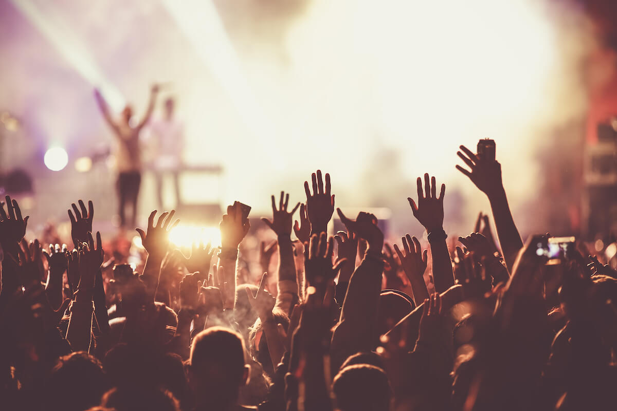 music festival hands in the air