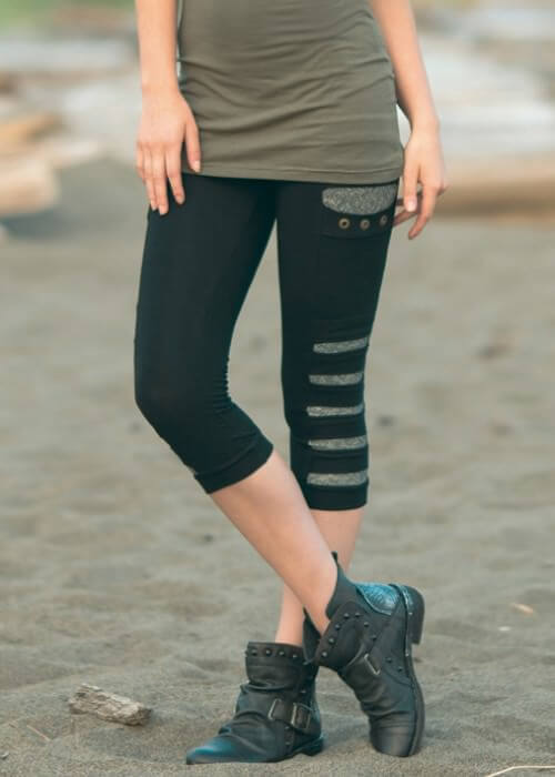 Exodus Bamboo 3/4 Leggings - Nomads Hemp Wear