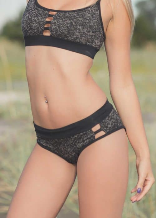 model wearing Pagoda Underwear in Organic Cotton & Bamboo