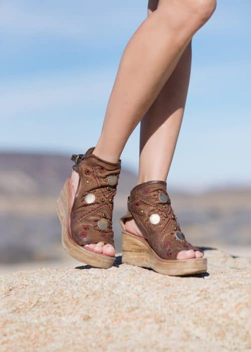 AS98 Sahara Sandals in brown leather