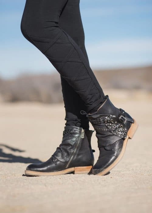 Black AS98 ankle boots: Ankle length vintage style hand crafted leather yumminess